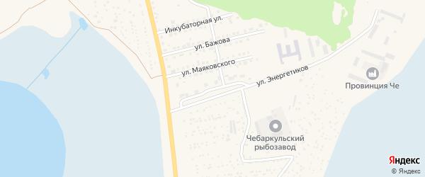 Улица Энергетиков на карте Чебаркуля с номерами домов