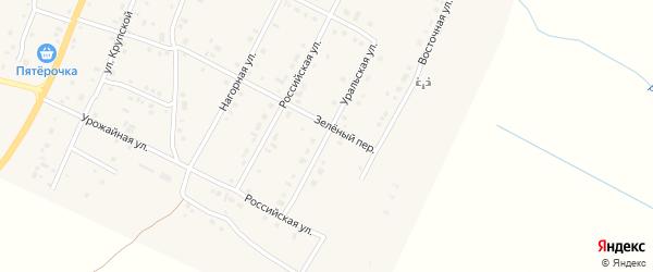 Уральская улица на карте деревни Малково с номерами домов