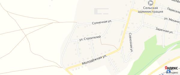 Улица Строителей на карте Анненского села с номерами домов