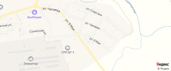 9 Мая улица на карте поселка Бредов с номерами домов