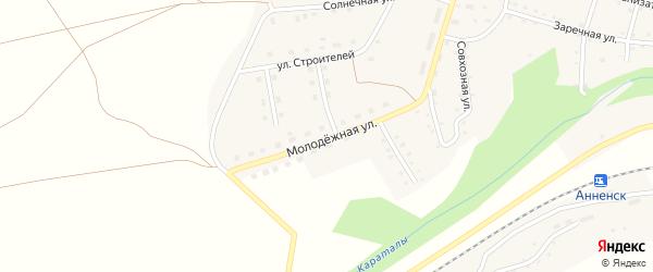 Молодежная улица на карте Анненского села с номерами домов