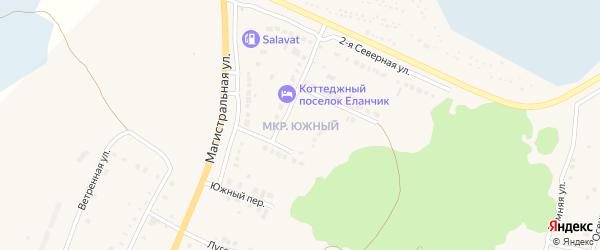 Улица Малиновый звон на карте Южного микрорайона с номерами домов