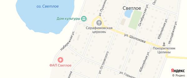 Улица Пушкина на карте Светлого села с номерами домов