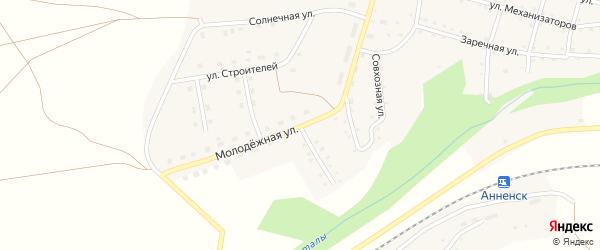 Лесной переулок на карте Анненского села с номерами домов