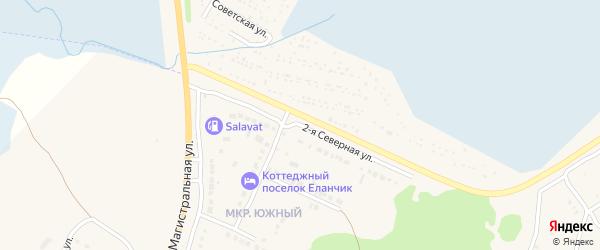 Северная 2-я улица на карте Южного микрорайона с номерами домов