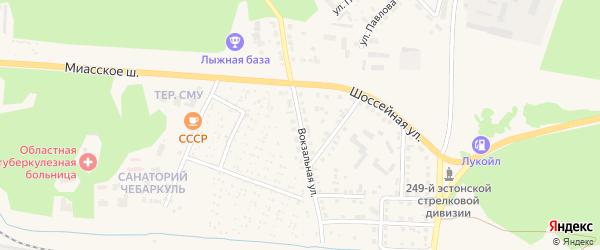 Вокзальная улица на карте Чебаркуля с номерами домов