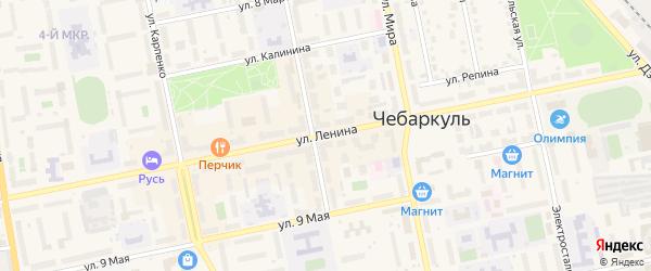 Улица Ленина на карте Чебаркуля с номерами домов
