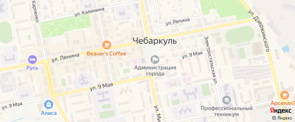 Улица Мира на карте Чебаркуля с номерами домов