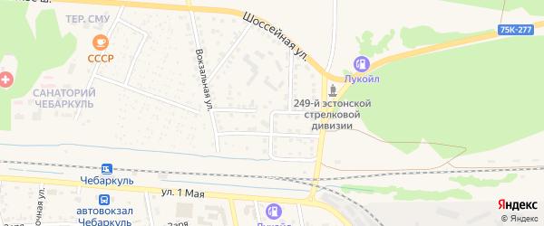 Улица Герцена на карте Чебаркуля с номерами домов