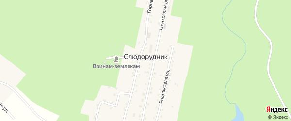 Геологическая улица на карте поселка Слюдорудника с номерами домов