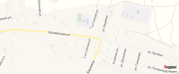 Степная 2-я улица на карте поселка Бредов с номерами домов