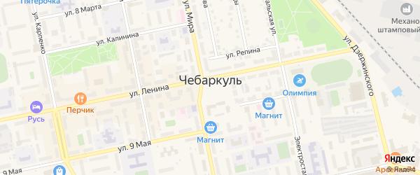 Населенный пункт б/о Юность на карте Чебаркуля с номерами домов