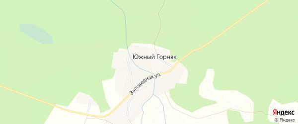 Карта поселка Южного Горняка в Челябинской области с улицами и номерами домов