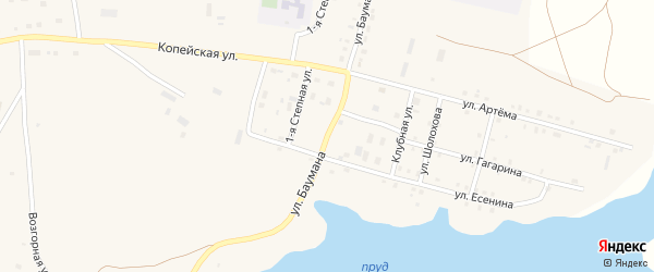 Улица Баумана на карте поселка Бредов с номерами домов