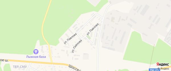 Улица Павлова на карте Чебаркуля с номерами домов