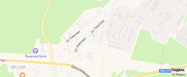 Улица Елагина на карте Чебаркуля с номерами домов