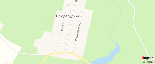 Родниковая улица на карте поселка Слюдорудника с номерами домов