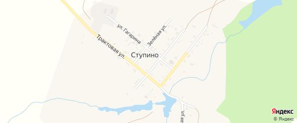 Трактовая улица на карте деревни Ступино с номерами домов