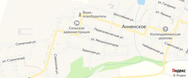 Улица Механизаторов на карте Анненского села с номерами домов