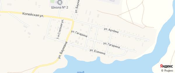 Клубная улица на карте поселка Бредов с номерами домов