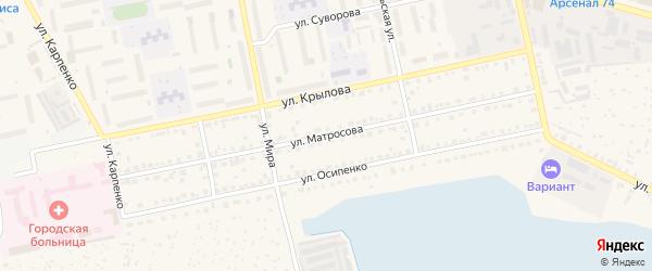 Улица а/д Чебаркуль-Кисегач на карте Чебаркуля с номерами домов