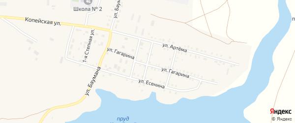 Улица Шолохова на карте поселка Бредов с номерами домов