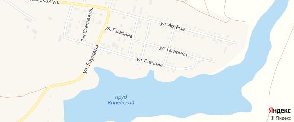 Улица Есенина на карте поселка Бредов с номерами домов