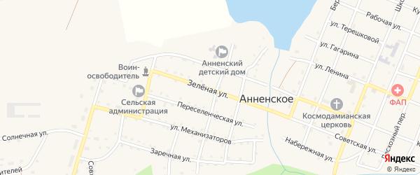 Зеленая улица на карте Анненского села с номерами домов