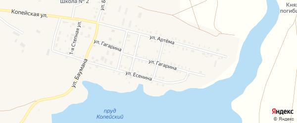 Улица Гагарина на карте поселка Бредов с номерами домов