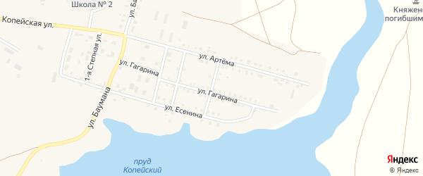Улица Суворова на карте поселка Бредов с номерами домов