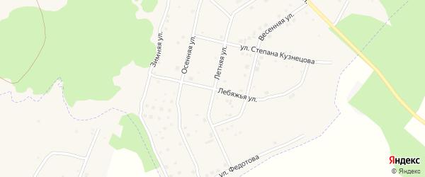 Лебяжья улица на карте Южного микрорайона с номерами домов