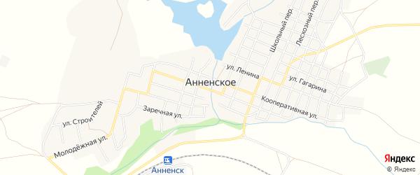 Карта Анненского села в Челябинской области с улицами и номерами домов