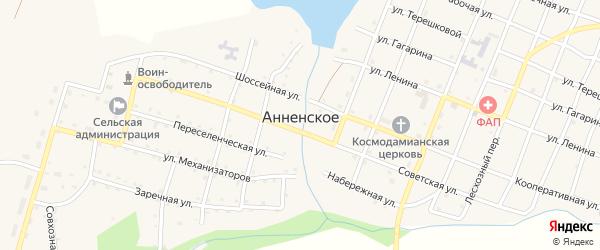 Центральный переулок на карте Анненского села с номерами домов