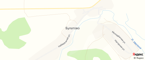 Карта деревни Булатово в Челябинской области с улицами и номерами домов
