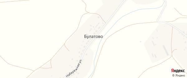 Улица Кульмухаметова на карте деревни Булатово с номерами домов