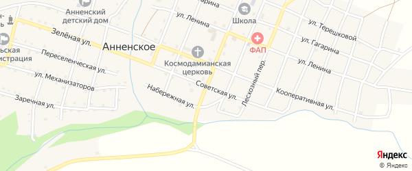 Советская улица на карте Анненского села с номерами домов