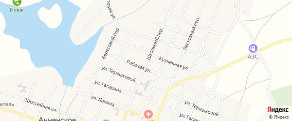 Школьный переулок на карте Анненского села с номерами домов