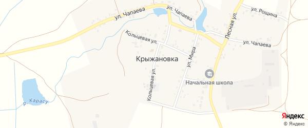 Кольцевая улица на карте деревни Крыжановки с номерами домов