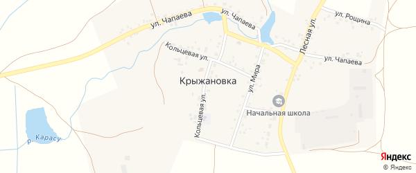 Лесная улица на карте деревни Крыжановки с номерами домов