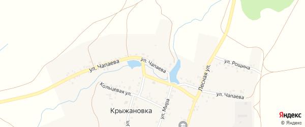 Улица Чапаева на карте деревни Крыжановки с номерами домов