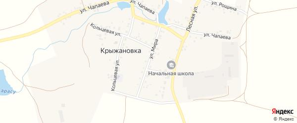Улица Мира на карте деревни Крыжановки с номерами домов
