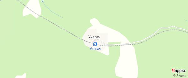 Карта поселка Укагача города Верхнего Уфалея в Челябинской области с улицами и номерами домов