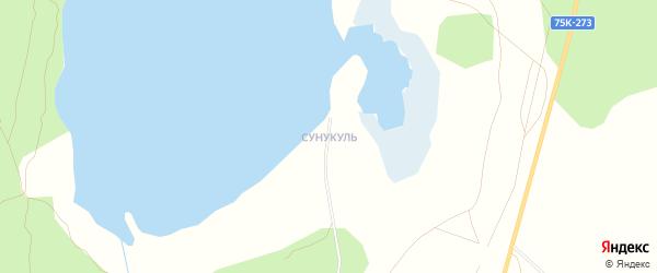 Карта поселка Сунукуля в Челябинской области с улицами и номерами домов