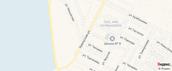 Уральская улица на карте Чебаркуля с номерами домов