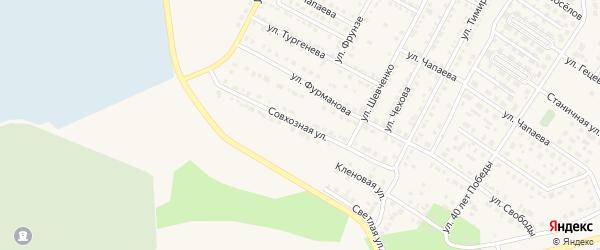 Совхозная улица на карте Чебаркуля с номерами домов