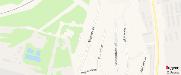 Верхняя улица на карте Чебаркуля с номерами домов
