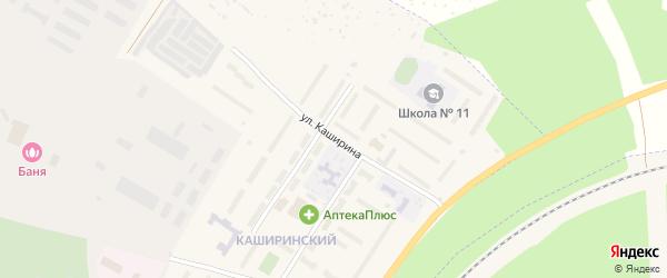 Улица Каширина на карте Чебаркуля с номерами домов