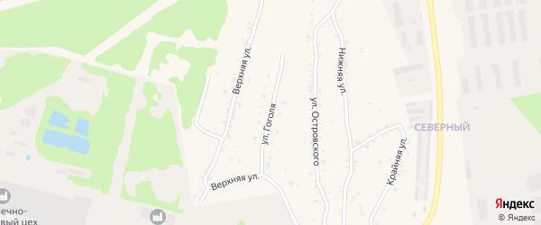 Улица Гоголя на карте Чебаркуля с номерами домов
