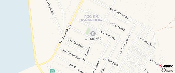 Улица Лермонтова на карте Чебаркуля с номерами домов