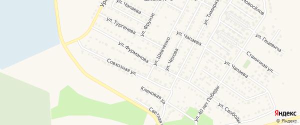 Улица Фурманова на карте Чебаркуля с номерами домов